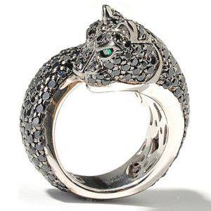 Sonia Bitton Panther Ring / 4.1 CT Diamond / 14K